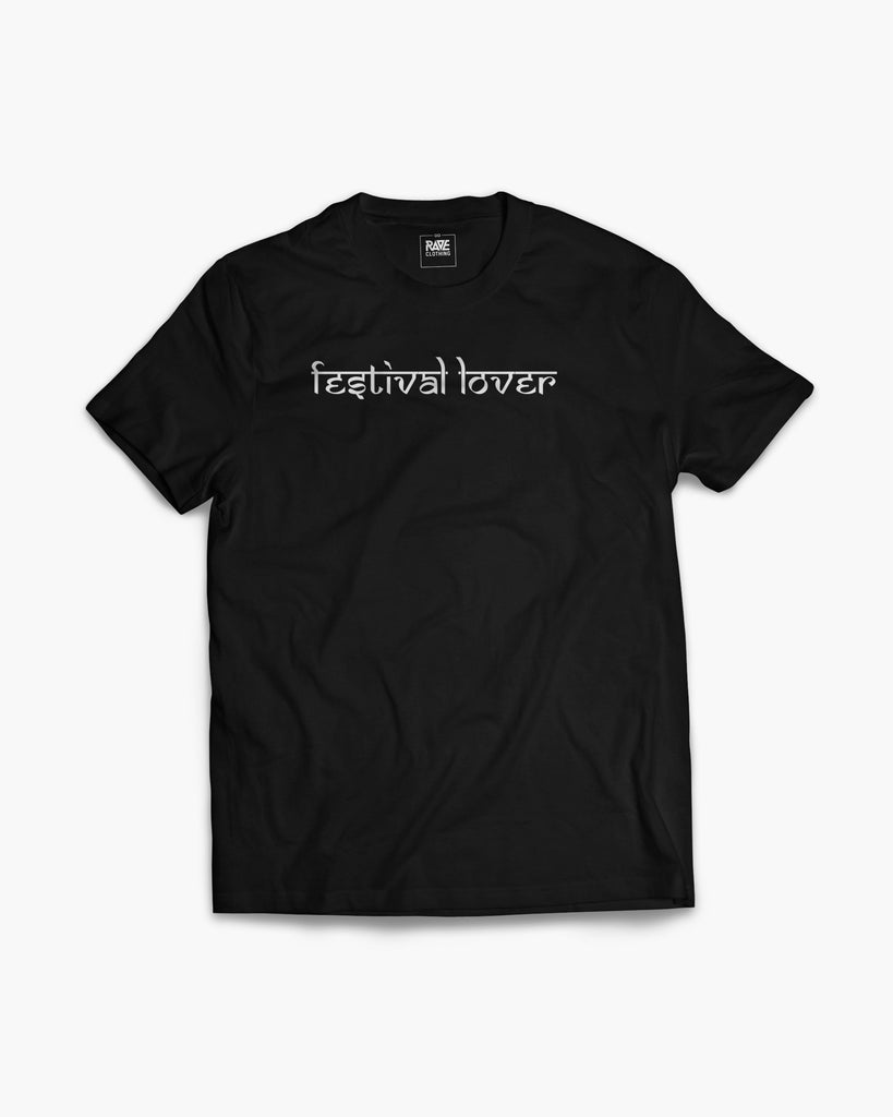 Festival Lover T-Shirt in schwarz