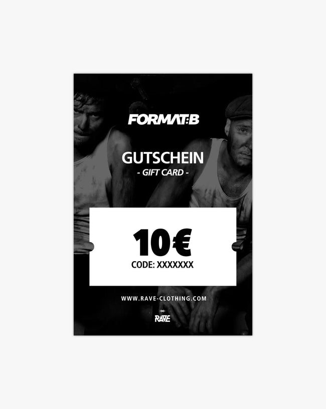 Format: B 10 € voucher from RAVE Clothing