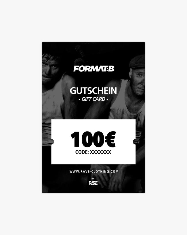 Format: B 100 € voucher from RAVE Clothing