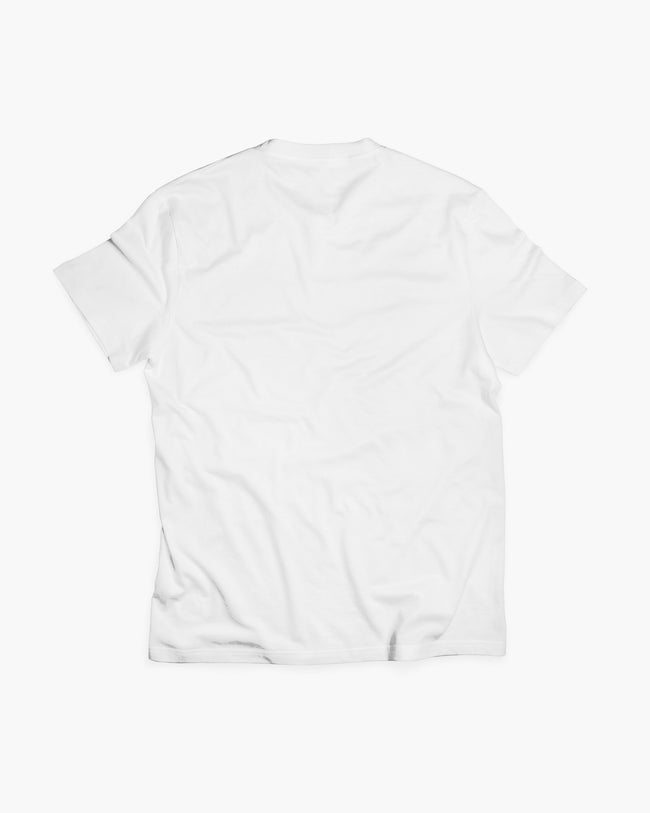White trance t-shirt for men