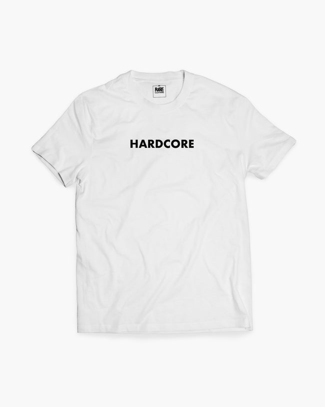 Hardcore t-shirt in white for men by RAVE Clothing