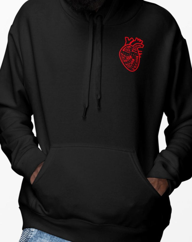 I Like Techno More Than I Like People hoodie in black for men by RAVE Clothing