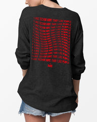 I Like Techno More Than I Like People Crewneck in dunkelgrau für Frauen von RAVE Clothing