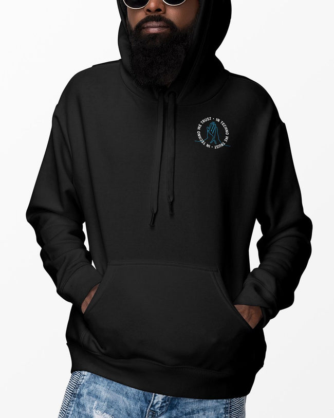 Black In Techno We Trust hoodie for men