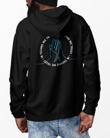 In Techno We Trust hoodie in black for men by RAVE Clothing
