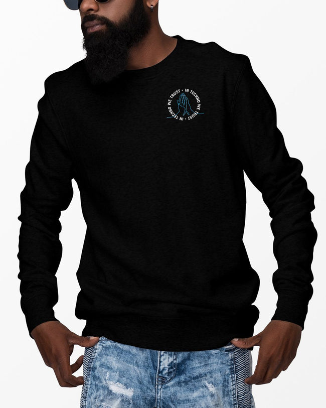 Black In Techno We Trust Crewneck for men