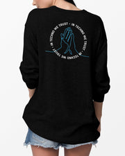 In Techno We Trust Crewneck in black for women by RAVE Clothing