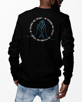 In Techno We Trust Crewneck in black for men by RAVE Clothing