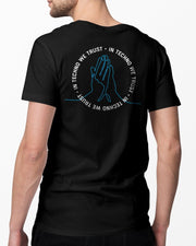 In Techno We Trust T-shirt in black for men by RAVE Clothing