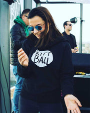 Kittball Records hoodie in black