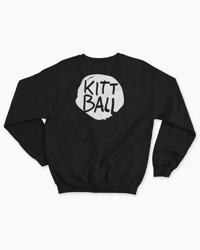 Kittball Records sweater in black