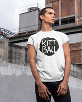 Kittball Records T-Shirt in weiß