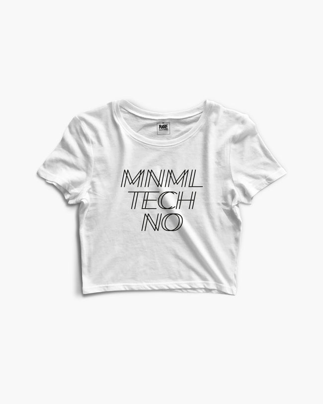 MNML Techno Crop Top in white for women by RAVE Clothing