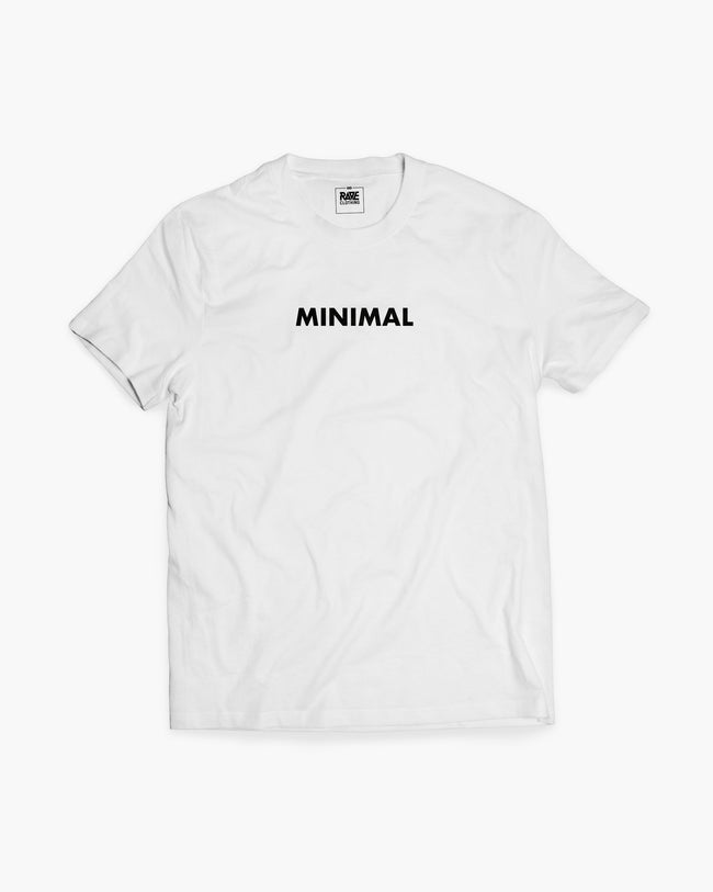 Minimal t-shirt in white for men by RAVE Clothing
