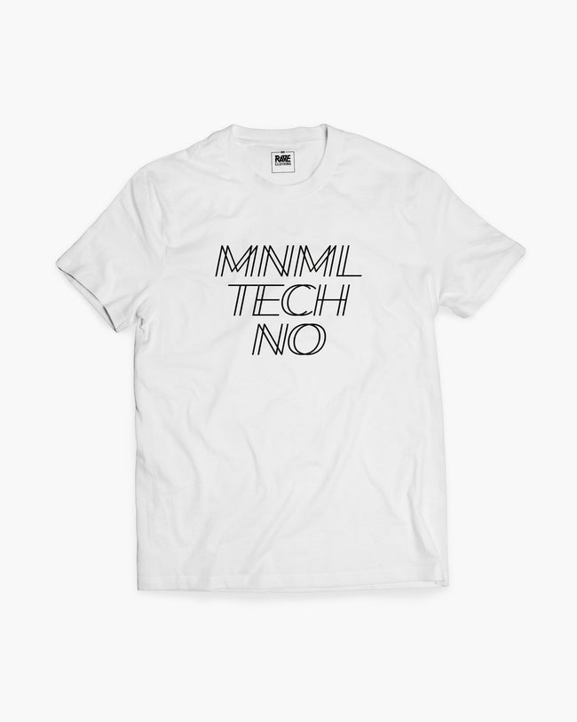 MNML Techno T-Shirt in white for men by RAVE Clothing