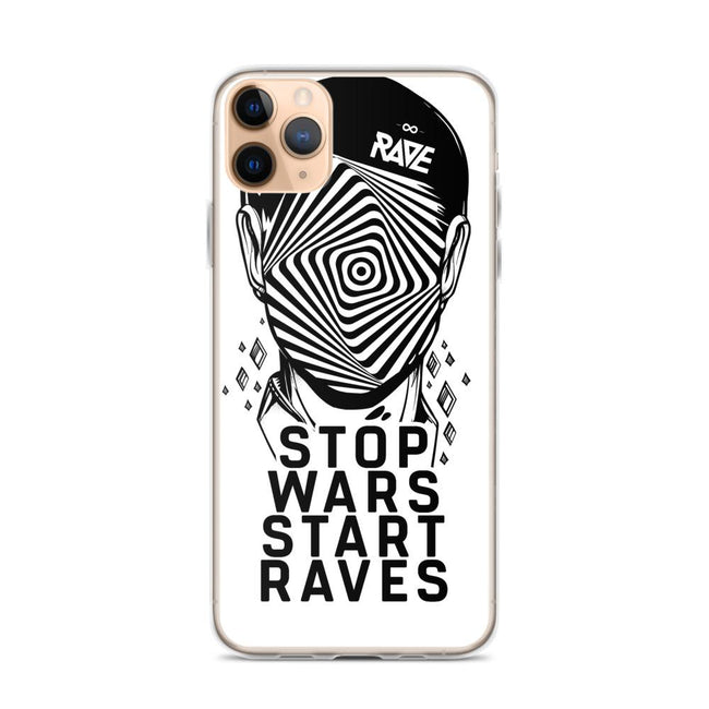 Stop Wars Start Raves iPhone Handyhülle