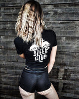 No Sleep Club Crop Top in black