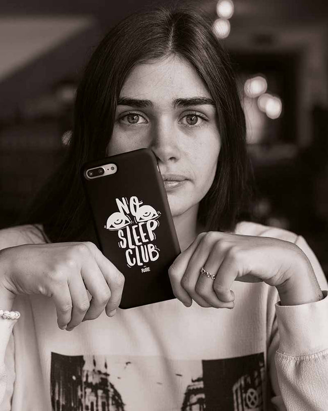 No Sleep Club iPhone case