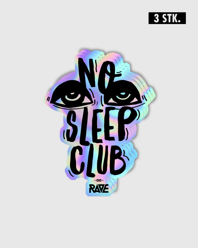 No Sleep Club Holo Sticker Set 3 pcs.