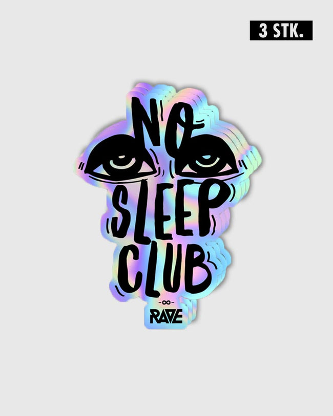 No Sleep Club Holo Sticker Set 3 Stk.