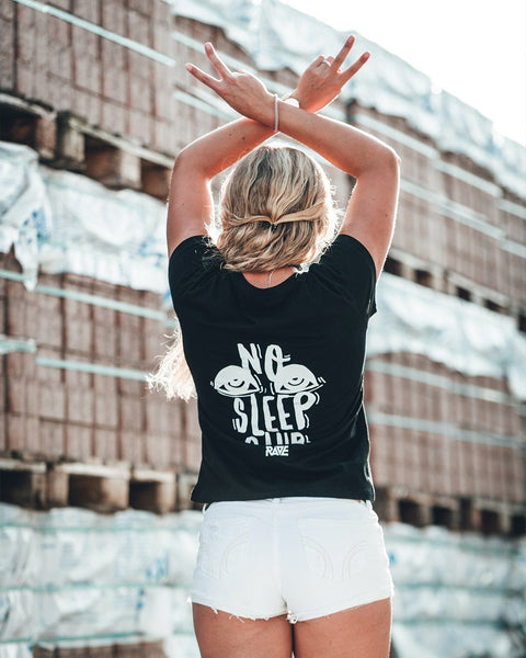 No Sleep Club Ladies T-Shirt in schwarz