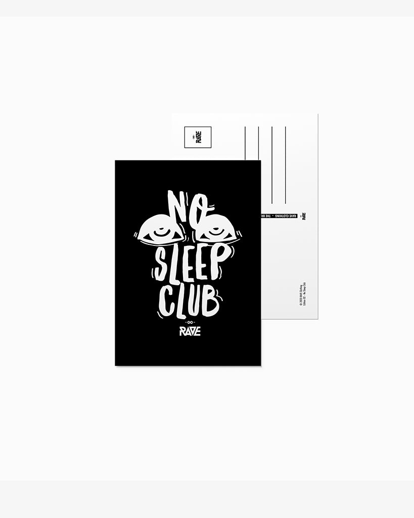 No Sleep Club postcard
