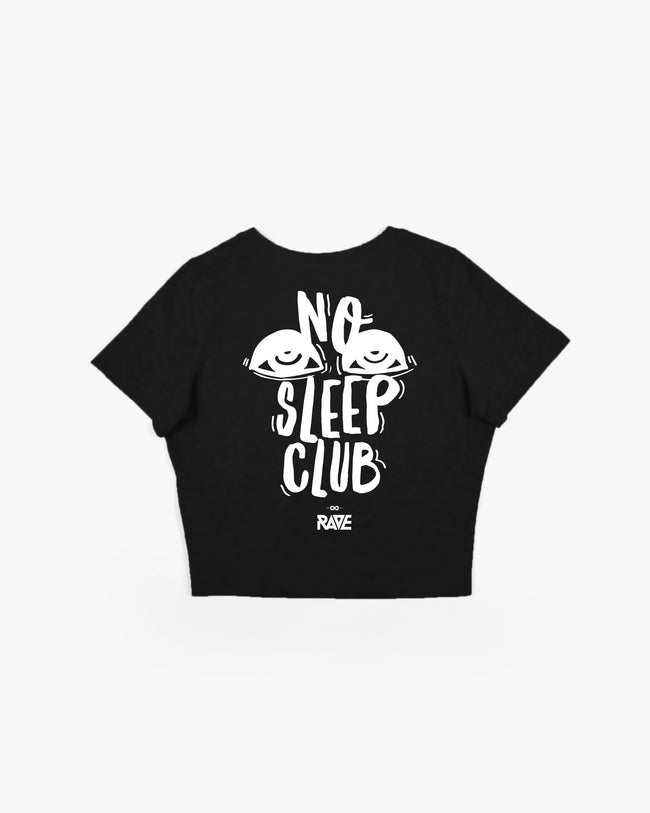Black No Sleep Club Crop Top for women