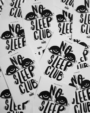 No Sleep Club sticker in white by RAVE Clothing