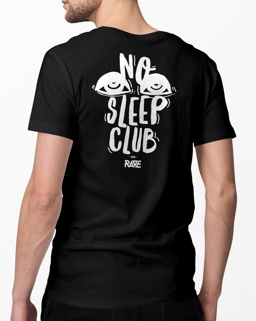 No Sleep Club T-Shirt in black by RAVE Clothing