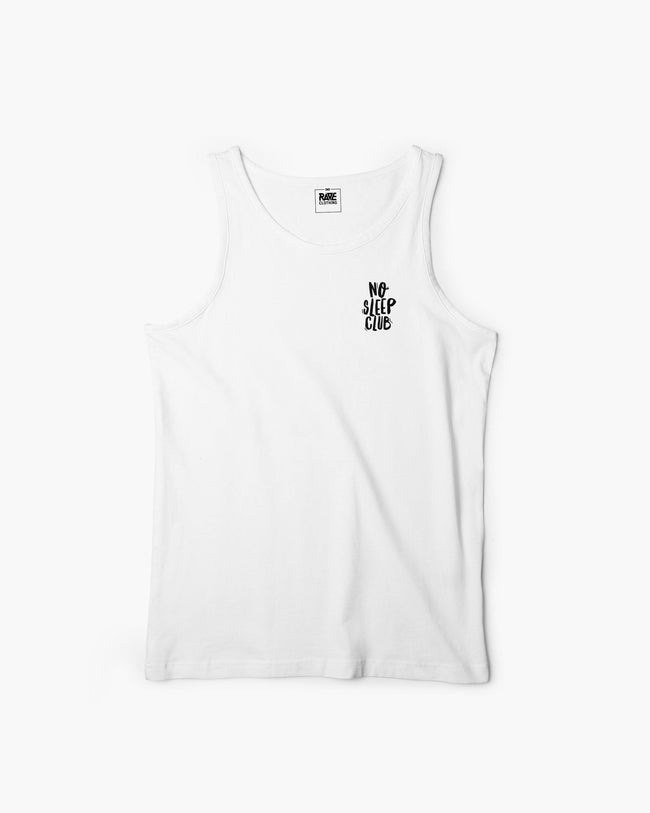No Sleep Club Tanktop in white for men by RAVE Clothing