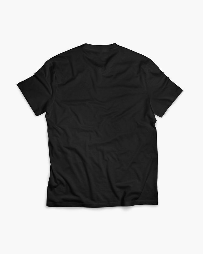 Nobody lists to techno T-shirt in black back