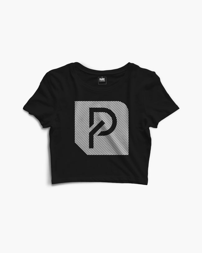 PYRO Records Crop Top in black by RAVE Clothing