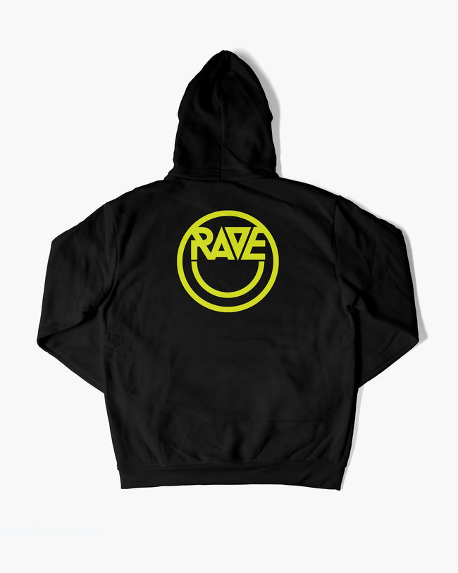 Black Acid RAVE hoodie for women