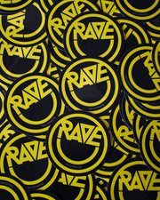 Acid RAVE sticker in black by RAVE Clothing
