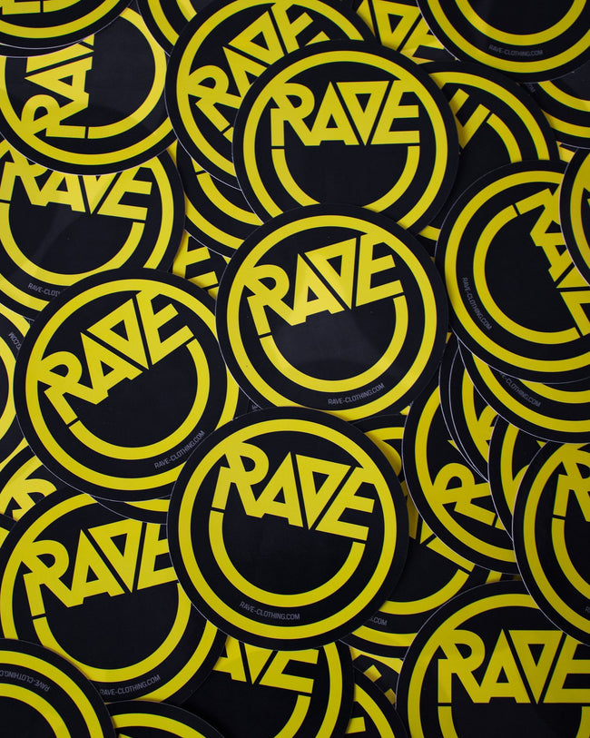Acid RAVE Sticker in schwarz von RAVE Clothing