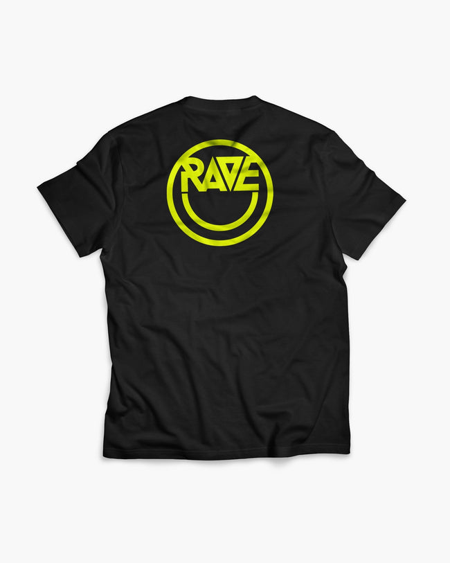 Acid RAVE T-shirt in black for women by RAVE Clothing