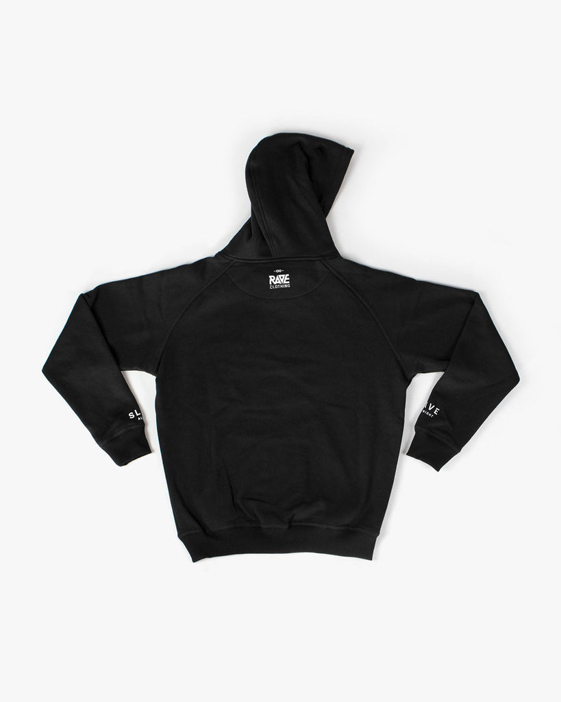 Techno Hoodie mit Rave All Night Motivdruck