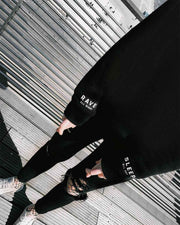 Rave All Night Hoodie in black
