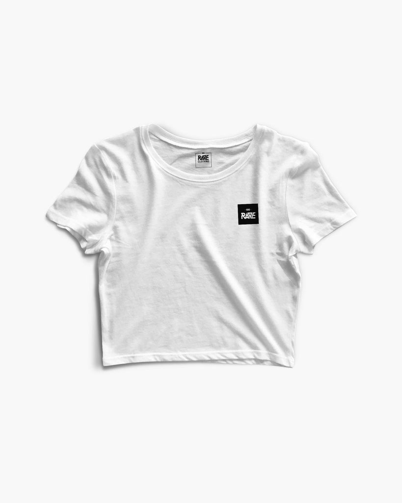 RAVE Basic Crop Top in weiß für Frauen von RAVE Clothing