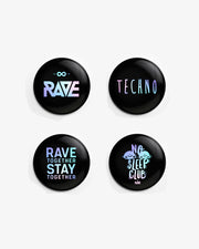 Techno & Rave Button Set