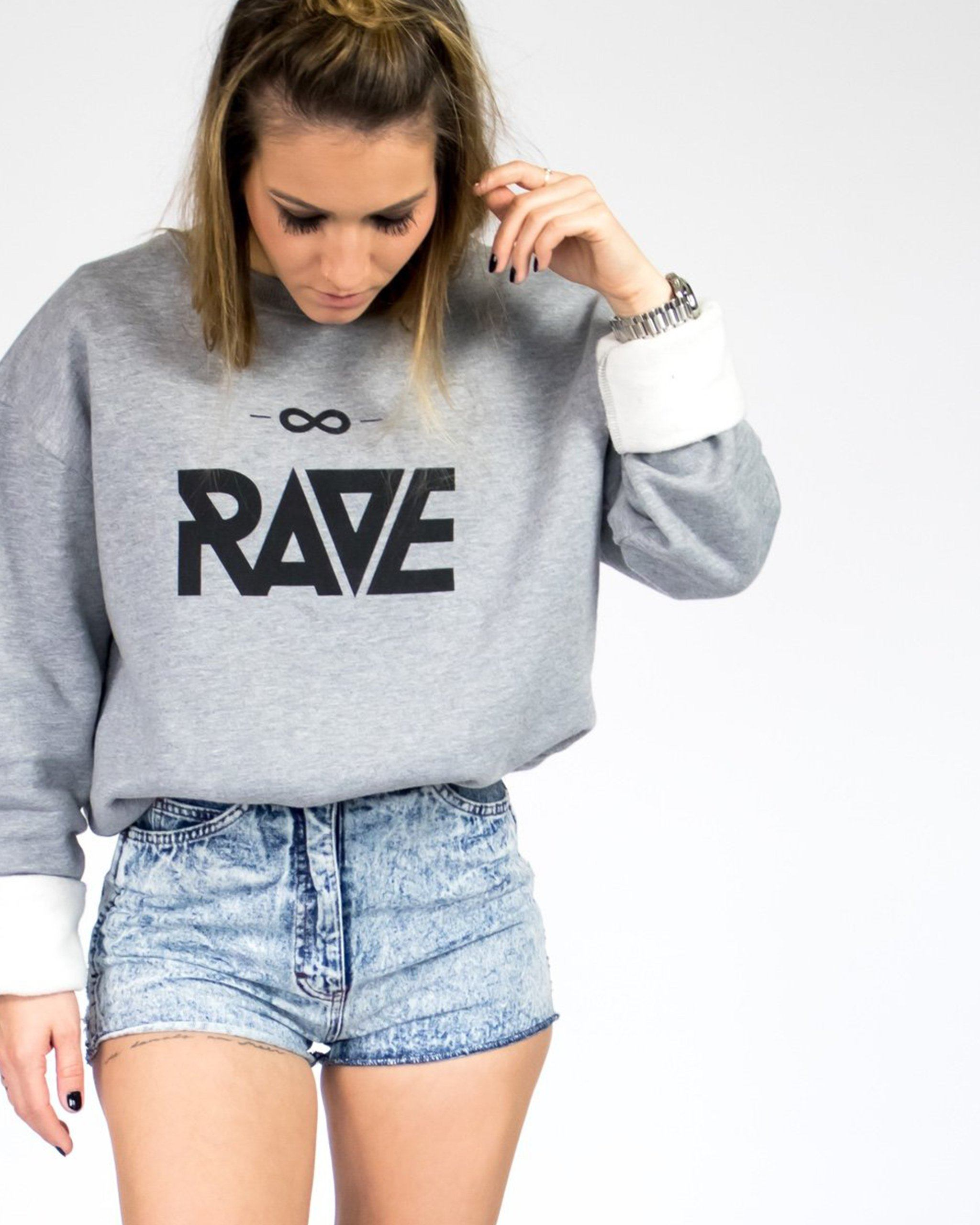RAVE Crewneck in light gray for women by RAVE Clothing