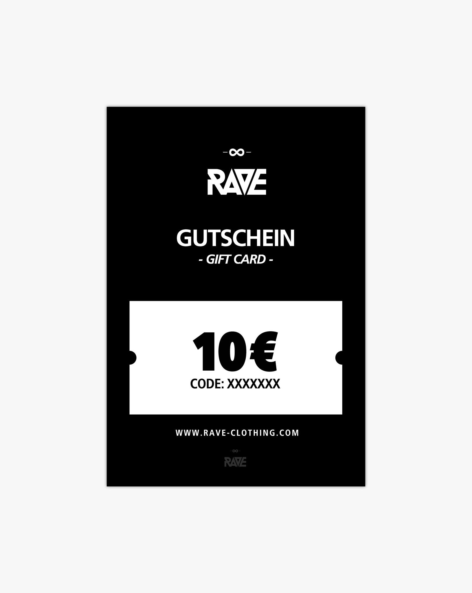 10 € gift voucher from RAVE Clothing