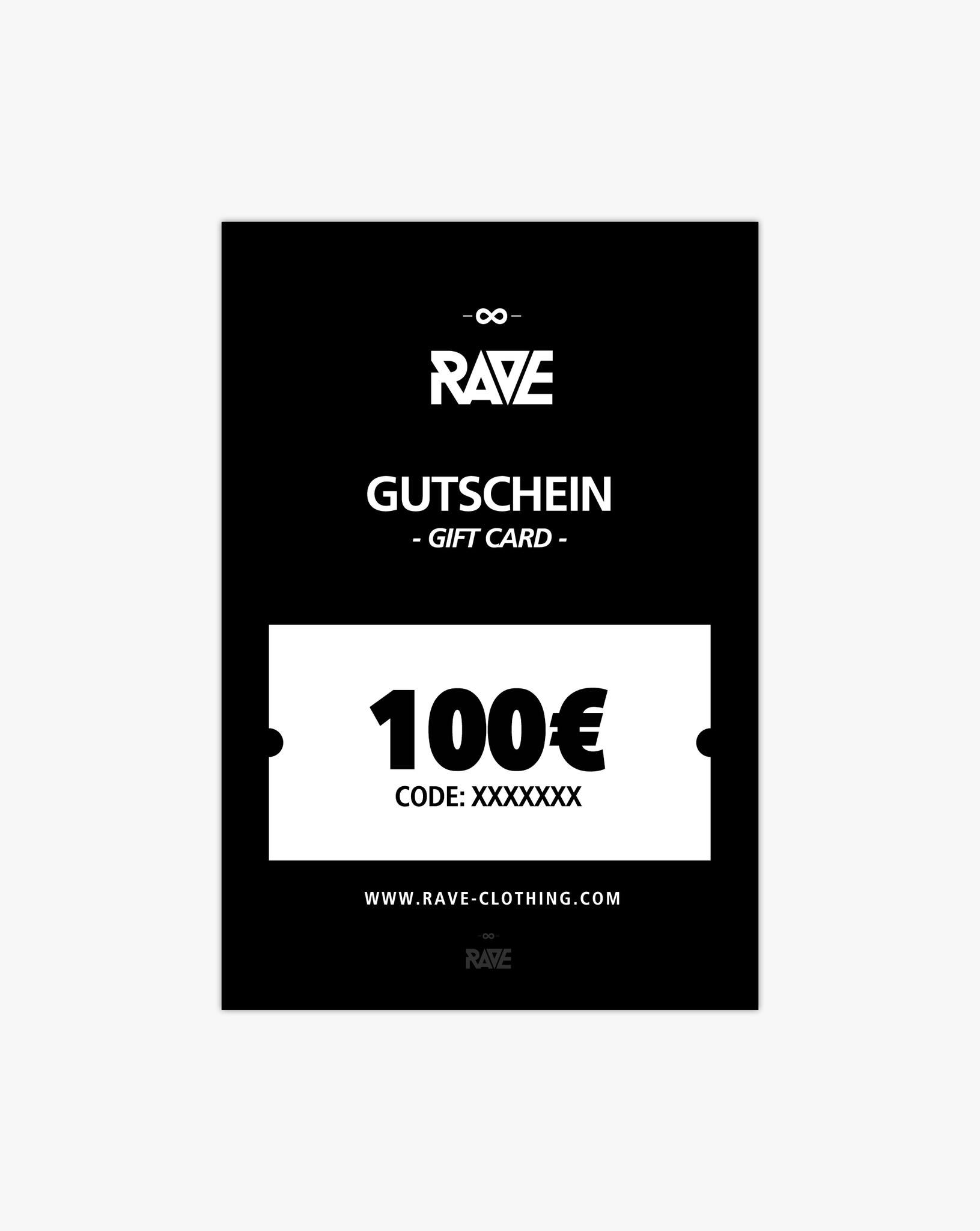 Gift voucher from RAVE Clothing