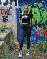 RAVE Crop Top black