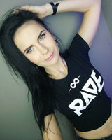 RAVE Crop Top in schwarz