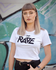 RAVE Crop Top in weiß von RAVE Clothing