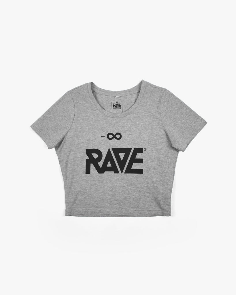 RAVE Crop Top in hellgrau