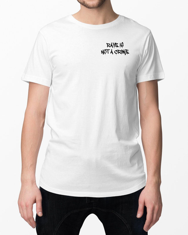 No Cops allowed at the rave T-Shirt in white by RAVE Clothing