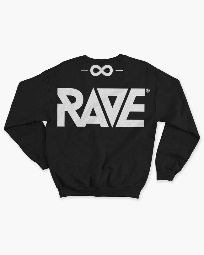 Black RAVE gang crewneck for women