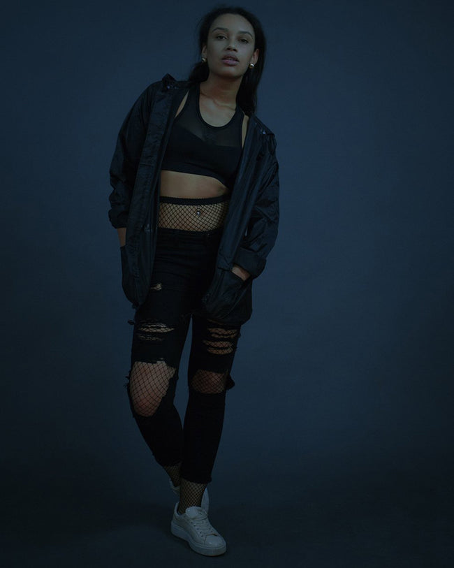 RAVE rain jacket in black for women by RAVE Clothing